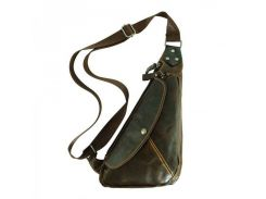 Кожаная сумка через плечо треугольной формы Traum арт. 7173-08