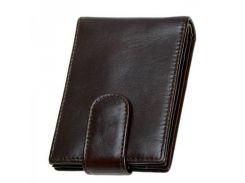 Кожаный картхолдер коричневого цвета Traum арт. 7110-50
