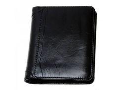 Кожаный бумажник черного цвета без застежки Traum арт. 7110-54