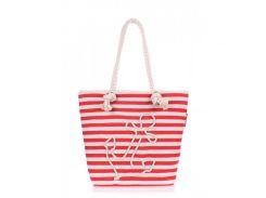 Яркая пляжная сумка  Poolparty арт. anchor-red