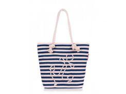 Коттоновая сумка Poolparty арт. anchor-blue