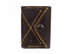Стильный аксессуар с натуральной кожи на кнопке Black Brier арт. P-11-33