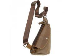 Кожаная сумка через плечо треугольной формы Traum арт. 7173-09