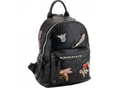 Чёрный рюкзак с нашивками Kite арт. K18-2530XS-2