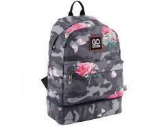 Серый рюкзак с оригинальным карманом GoPack арт. GO18-127L