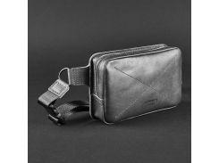 Черная кожаная сумка на пояс  BlankNote арт. BN-BAG-6-g