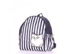 Детский рюкзачок в сине/белая полоску с котиком Alba Soboni арт. 129991