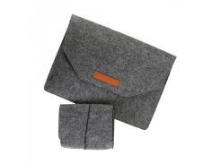 Папка для ноутбука 15 дюймов серого цвета Traum арт. 7112-46