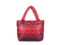 Дутая сумка с оленями Poolparty арт. pool-67-red