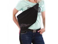 Чёрная сумка бананка через плечо Alba Soboni арт. 130444