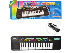 СИНТЕЗАТОР 3218  32 клавиши, микрофон,рег.громк,3тона,3ритма,на бат-ке,в кор-ке  49,5-14-3,5см NX