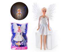Кукла DEFA 8219 (48шт) ангел, свет, в слюде, 33-21-7см XX
