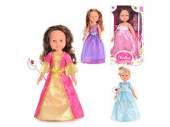 Кукла M 1589  Paolina, принцесса, 42см, аксессуары, 4 вида  46-22-10,5см KM
