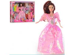 Кукла с нарядом 663B 28 см, платья 15шт, помада, лак, серьги, брошь, в кор-ке,  48-32-6см FX