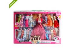 Кукла с нарядом 9295A1  28см, платья 22шт, 6видов, в кор-ке  48-32,5-5,5см DM