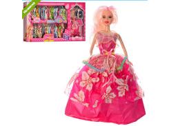 Кукла с нарядом Y740A 27см, платья 36шт, корона, в кор-ке 85-37-7,5см ZVX