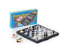 Шахматы 3831 (96шт) 3 в 1, в кор-ке, 20,5-11-3см ZC