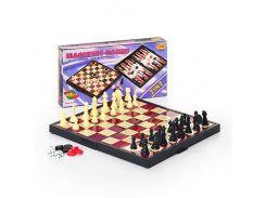 Шахматы 9831  (48шт) 3 в 1 сред, в кор-ке, 25-13-3,5см ZK