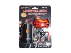 Велосипедный фонарик + стоп KK-606 VV