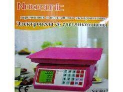 Торговые весы Nokasonic NK4017 до 40 кг ZDK 243