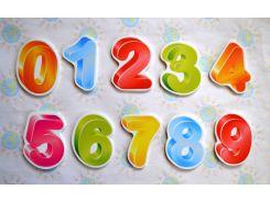 Магнитики обучающие Цифры 6 см