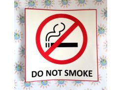 Наклейка Do not smoke