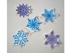 Наклейки Снежинки интерьерные