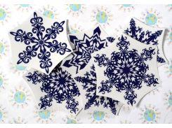 Наклейки для окон Снежинки 10х10 см, Фиолетовый