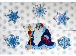 Набор наклеек для окон Дед Мороз и Снежинки