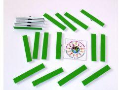 Набор счётных палочек на магнитах для доски Зеленый