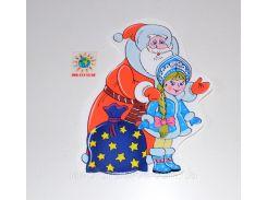 Дед Мороз и Снегурочка. Декоративная наклейка
