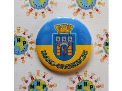 Значок сувенирный Ивано-Франковск 50 мм