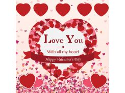 От всего сердца! Наклейка ко дню святого Валентина 10, 10х10 см