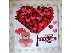 С днем Валентина! Наклейка ко дню святого Валентина 60х60 см