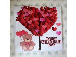 С днем Валентина! Наклейка ко дню святого Валентина 100х100 см