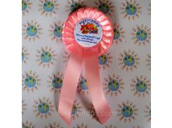 Значки с розетками и хвостиками для выпускников и первоклассников Розовый