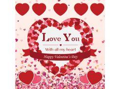 От всего сердца! Наклейка ко дню святого Валентина 10, 40х40 см