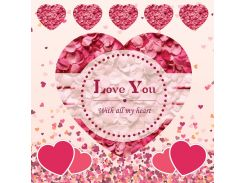 От всего сердца! Наклейка ко дню святого Валентина 14, 15х15 см