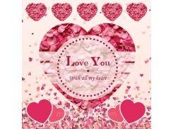 От всего сердца! Наклейка ко дню святого Валентина 14, 25х25 см