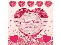 От всего сердца! Наклейка ко дню святого Валентина 14, 30х30 см