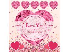 От всего сердца! Наклейка ко дню святого Валентина 16, 40х40 см