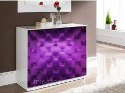 Наклейка на комод Кожанная обивка Фиолетовый