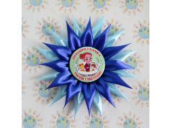 Значки с розетками канзаши Ручеек для выпускников и первоклассников