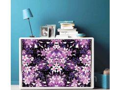 Наклейка на комод Фиолетовые цветы