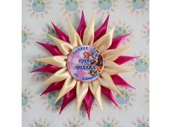 Значки с розетками канзаши Пион
