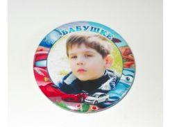 Значок с фотографией Вашего ребёнка, Бабушке 58 мм