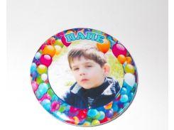 Значок с фотографией Вашего ребёнка, Папе 58 мм