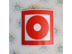 Наклейка Кнопка включения установок (систем) пожарной автоматики