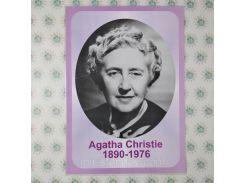 Агата Кристи. Бумажный ламинированный портрет