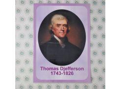 Томас Джеферсон. Бумажный ламинированный портрет
